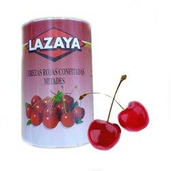 RED CHERRIES HALVES CAN 5.40 KG. LAZAYA