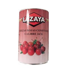 SUPER THICK RED CHERRIES 24/26 CAN 5.40 KG. LAZAYA