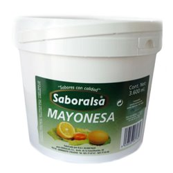 MAYONNAISE SABORALSA CUBE 3.6 KG.