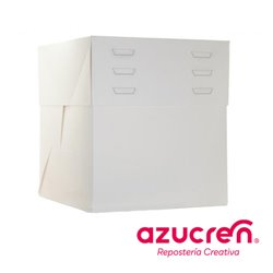 25 Units WHITE CAKE BOX HEIGHT Adjustable (Adjustable Height) 40 X 40 X 20 A 30 CM. REF. HEIGHT
