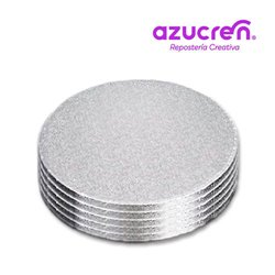 100 Units SILVER ROUND BASE 25 X 1.2 CM. HEIGHT REF.