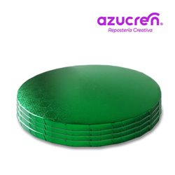 100 Units Round Green Base 25 X 1.2 cm. HEIGHT REF.