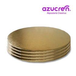 25 Units ROUND DRUM GOLD 20 X 1.2 CM. REF. HEIGHT