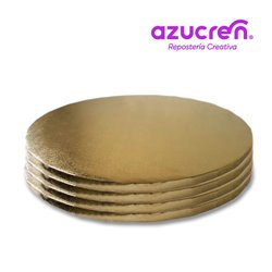 25 Units GOLD ROUND BASE 35 X 1.2 CM. HEIGHT REF.