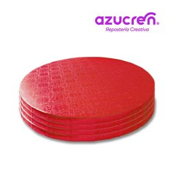 25 Units RED ROUND BASE 35 X 1.2 CM. REF. HEIGHT