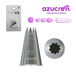 """5 NOZZLES Nº 22 """" OPEN STAR """" IN BLISTER PACK"""