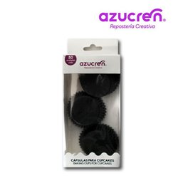 50 BLACK MINI CAPSULES 3.2 X 2.2 CM. ( IN BOX )