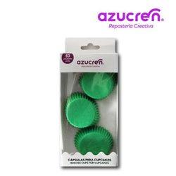 50 MINI CAPSULES GREEN 3.2 X 2.2 CM. ( IN BOX )